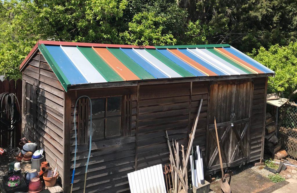 Custom color metal roof